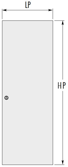 Размеры дверного полотна для пенала синтезис лайн от эклис